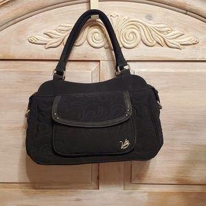 Vera Bradley XLarge Black Quilted Handbag Purse
